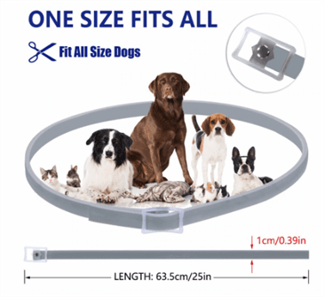 Dewel Flea And Tick Collar - Size Guide
